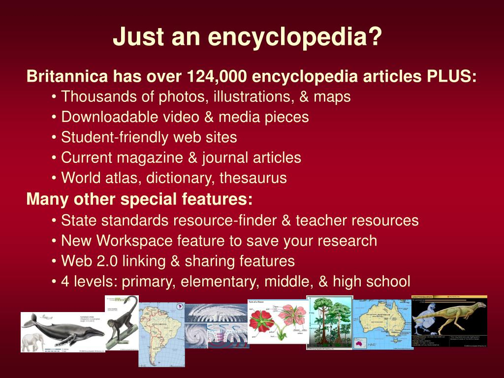 Just an encyclopedia?