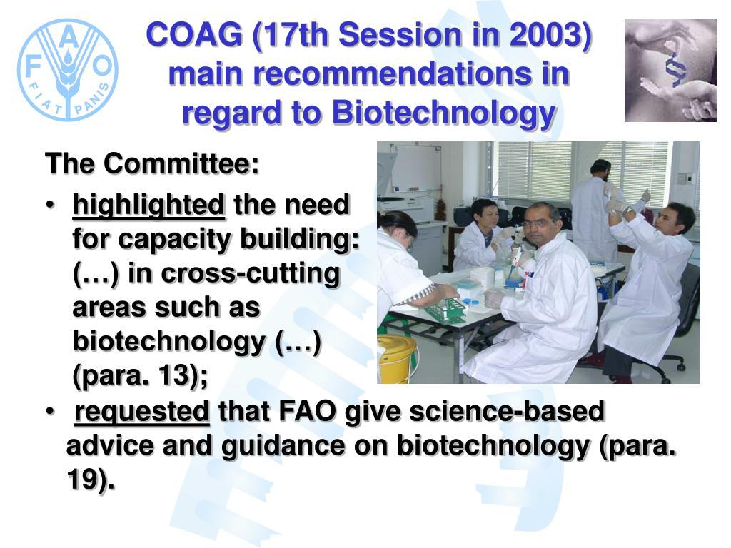 COAG (17th Session in 2003)