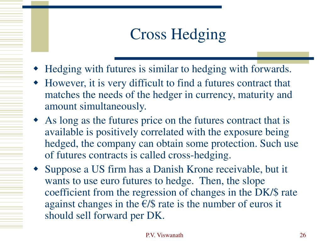 Cross Hedging