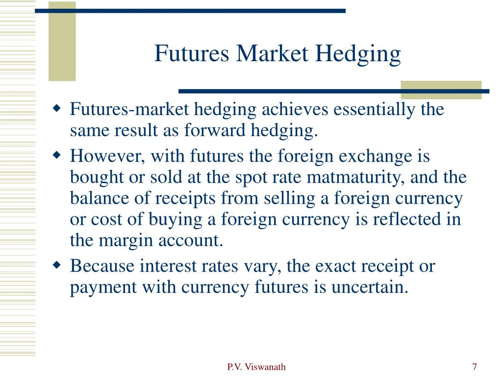 Futures Market Hedging