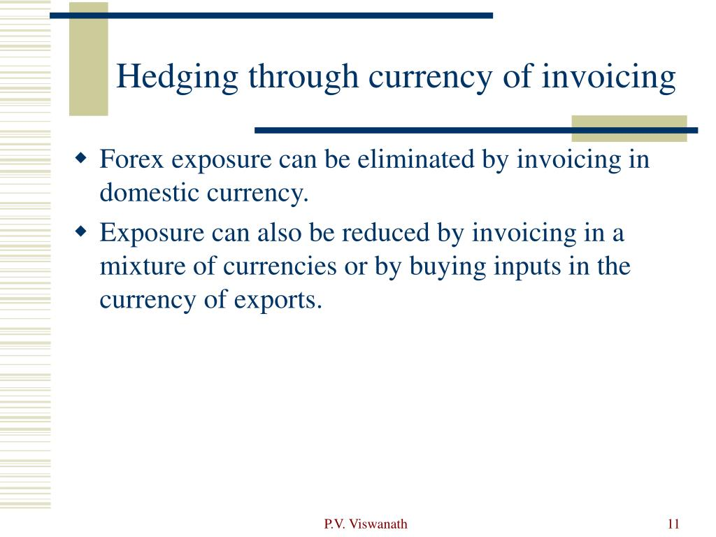 Hedging through currency of invoicing