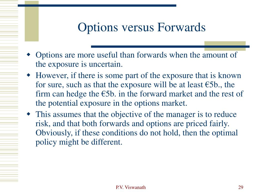 Options versus Forwards