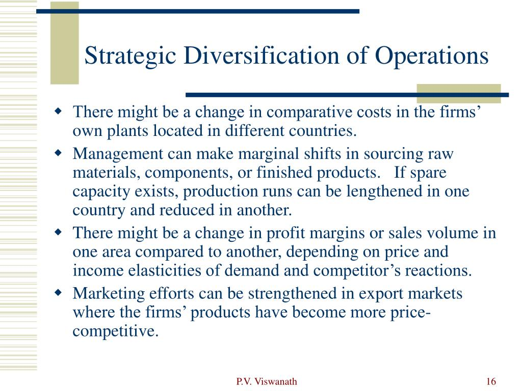 Strategic Diversification of Operations