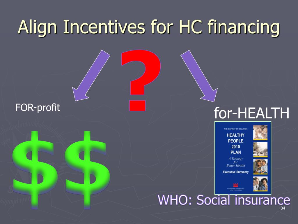 Align Incentives for HC financing