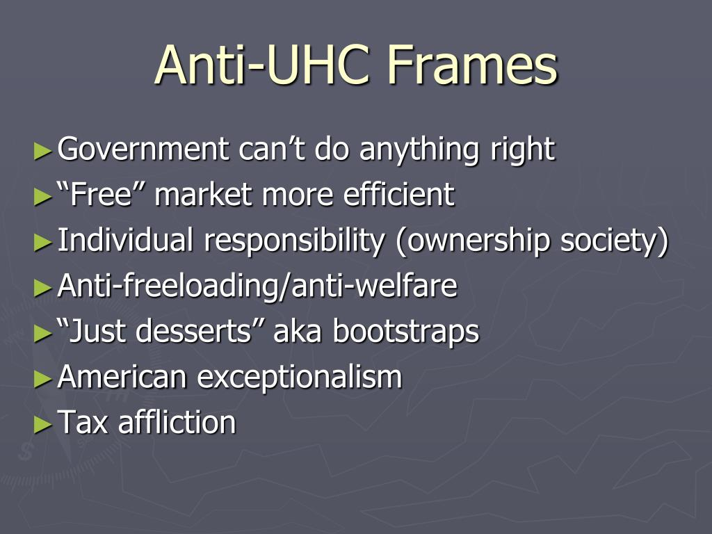 Anti-UHC Frames