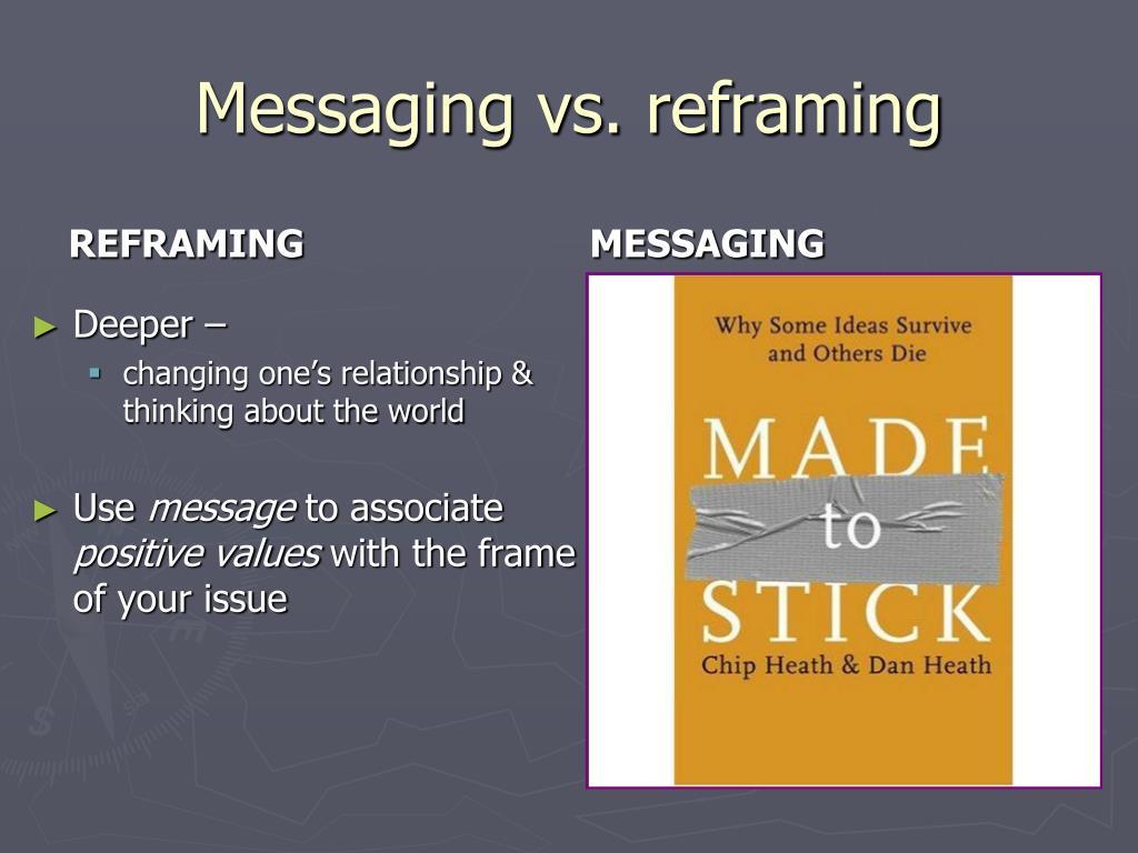 Messaging vs. reframing