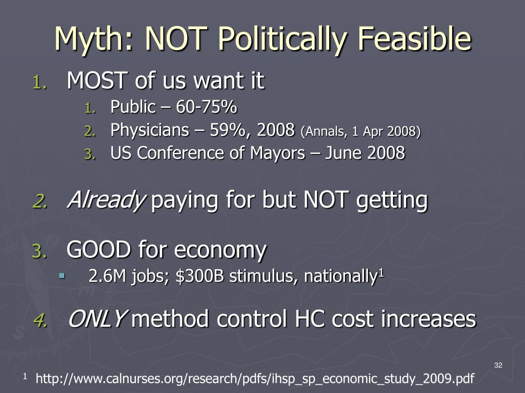 Myth: NOT Politically Feasible