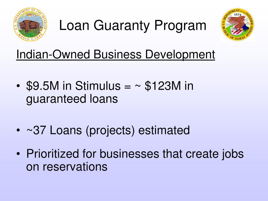 Loan Guaranty Program