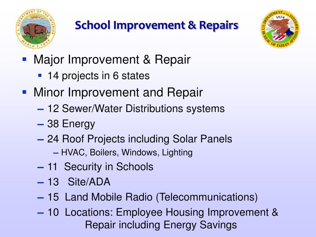 School Improvement & Repairs