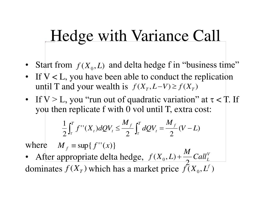 Hedge with Variance Call