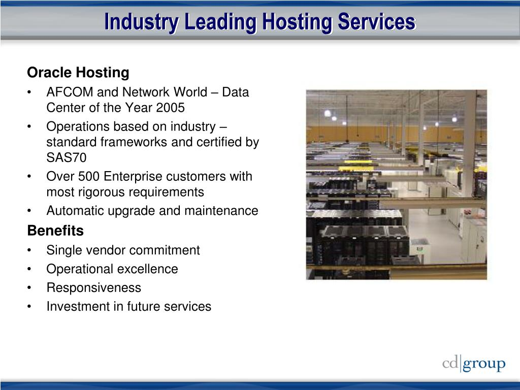 Industry Leading Hosting Services