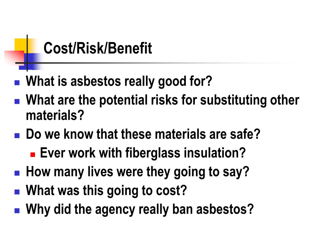 Cost/Risk/Benefit