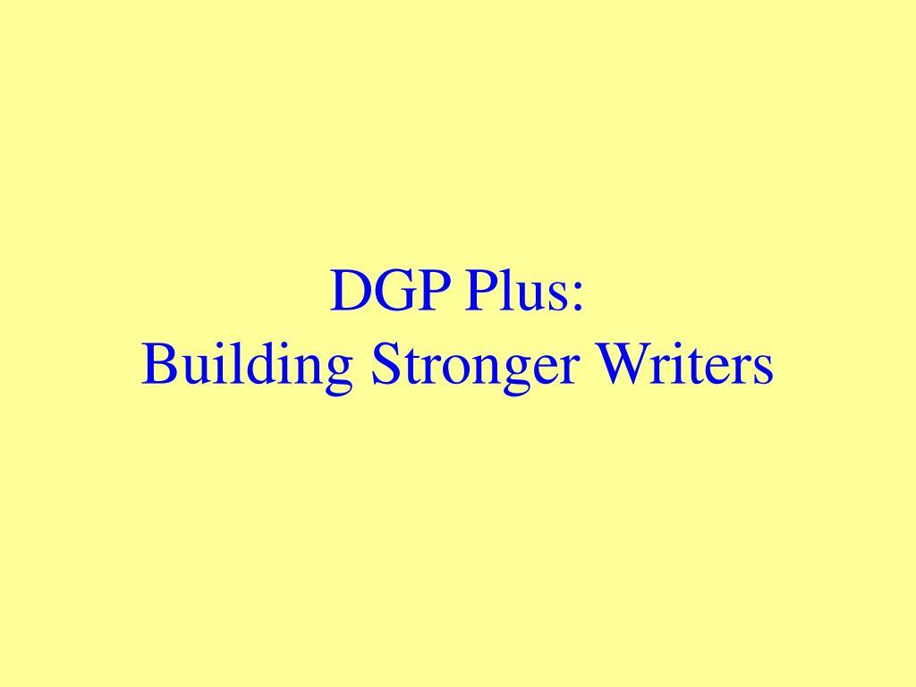 DGP Plus: