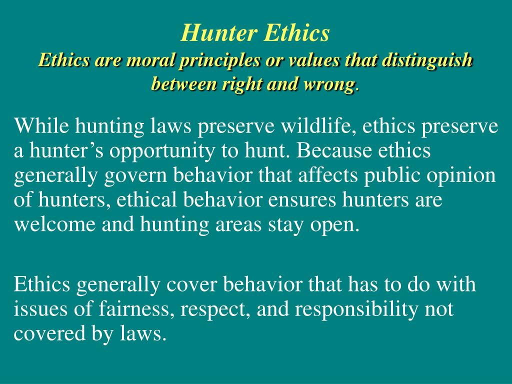 Hunter Ethics