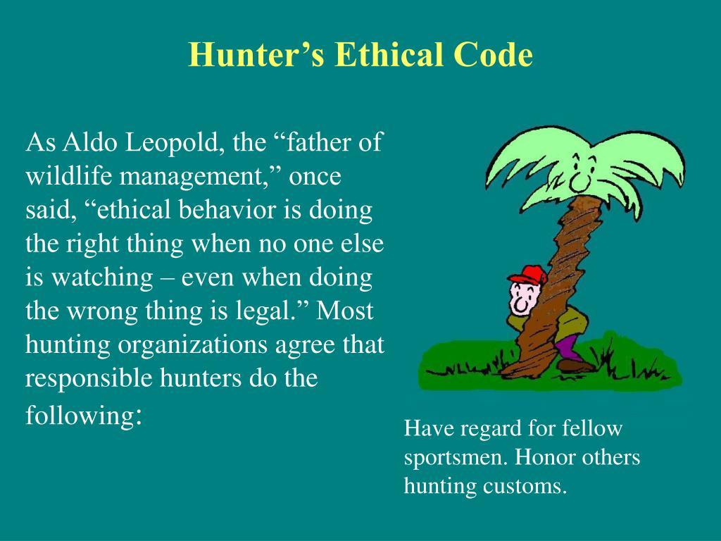 Hunter's Ethical Code