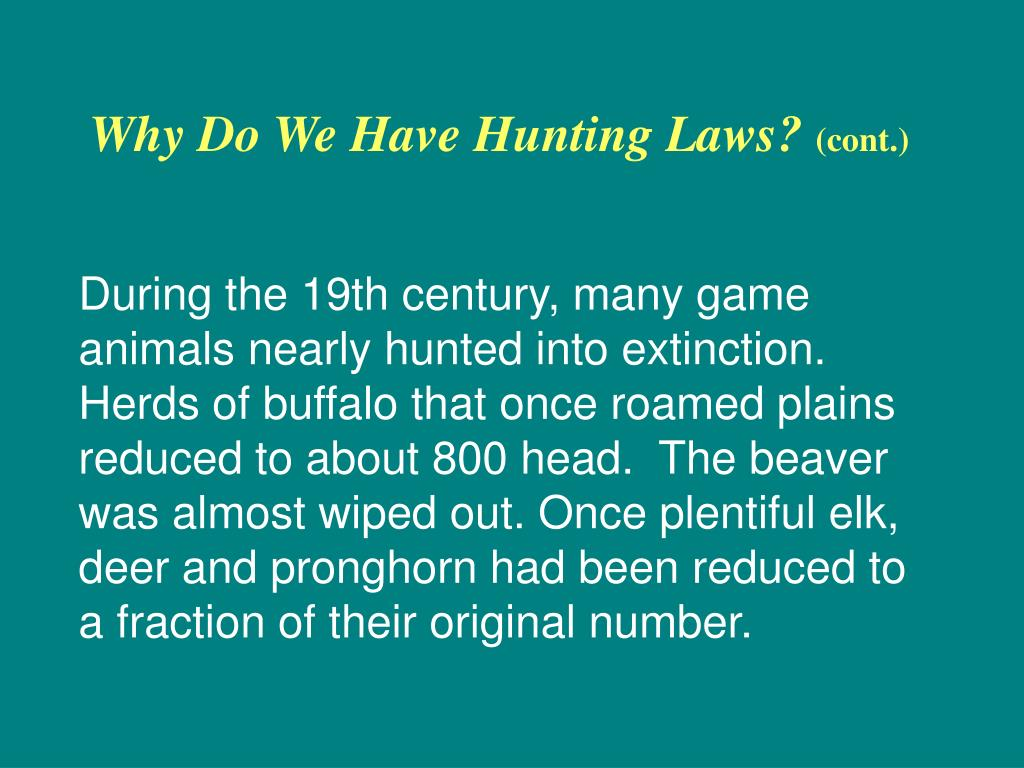 Why Do We Have Hunting Laws?