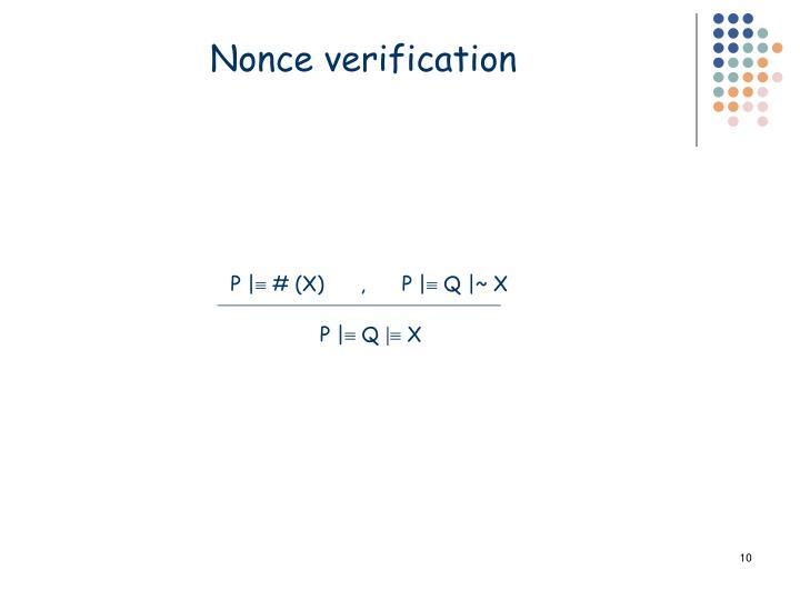 Nonce verification