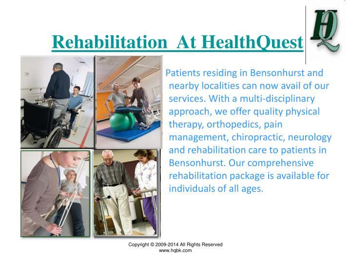 Rehabilitation  At HealthQuest