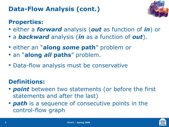 Data-Flow Analysis (cont.)