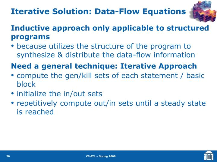 Iterative Solution: Data-Flow Equations