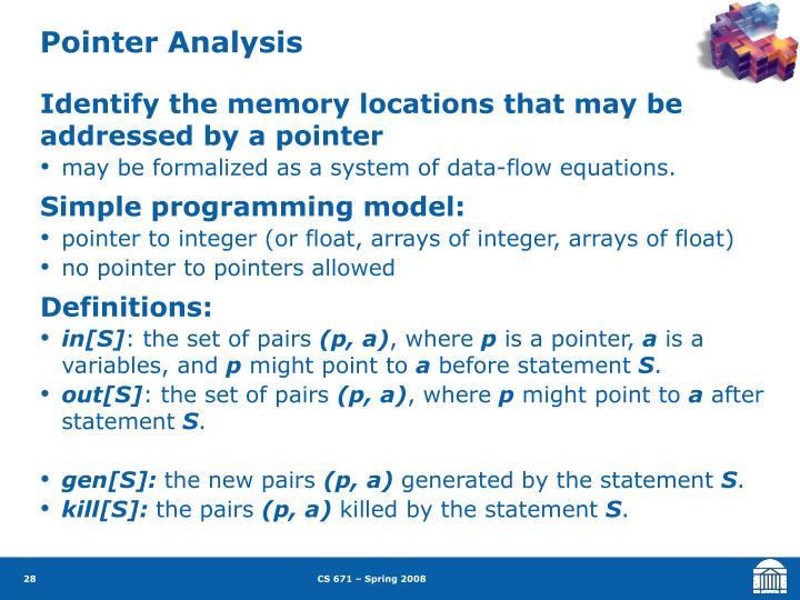 Pointer Analysis