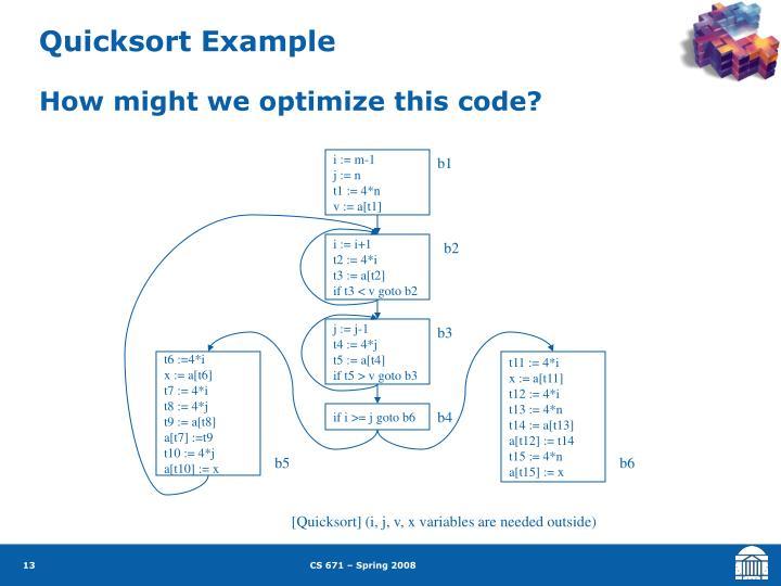 Quicksort Example