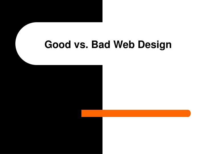 Good vs bad web design