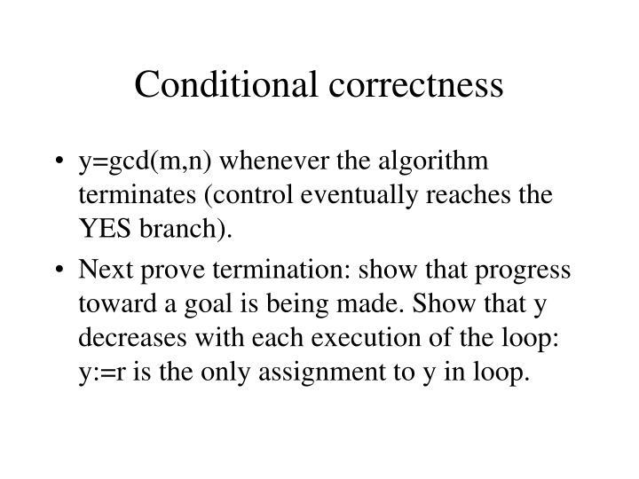 Conditional correctness