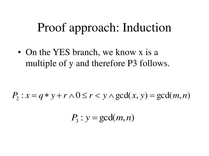 Proof approach: Induction