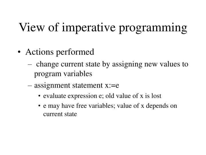 View of imperative programming1
