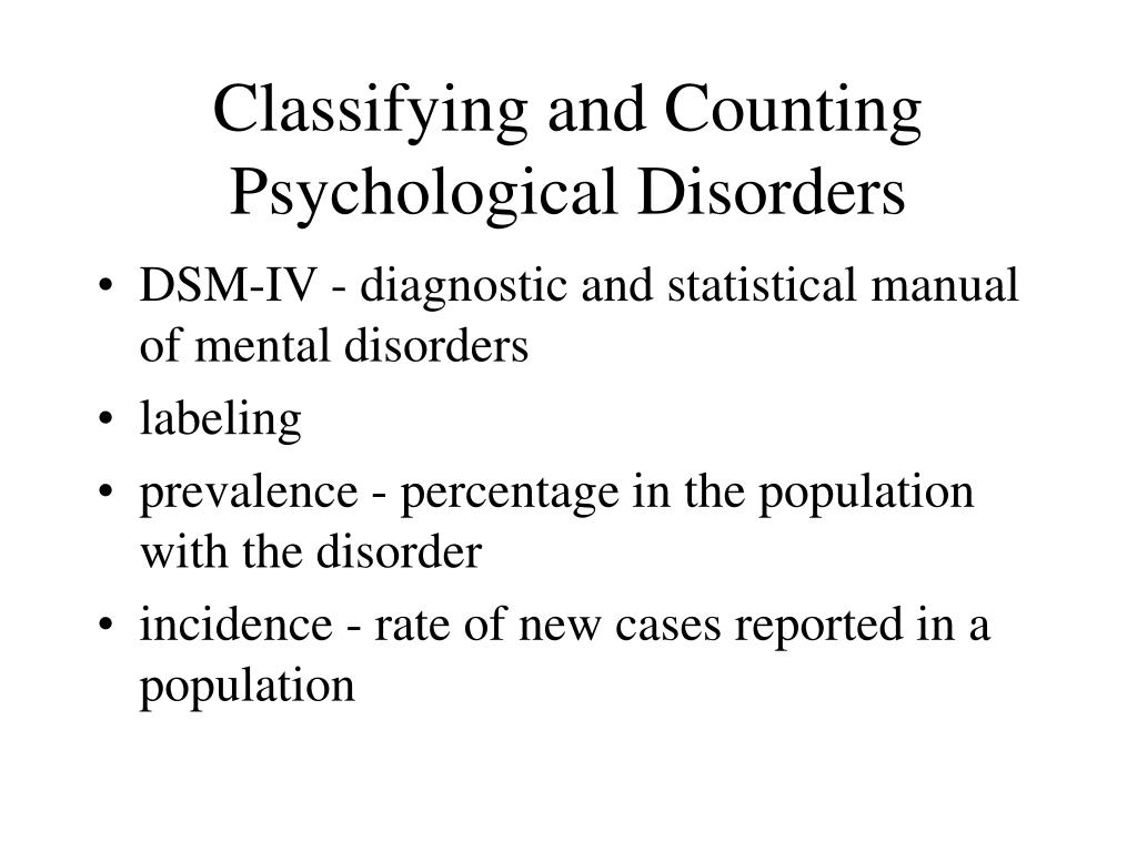 Classifying and Counting Psychological Disorders