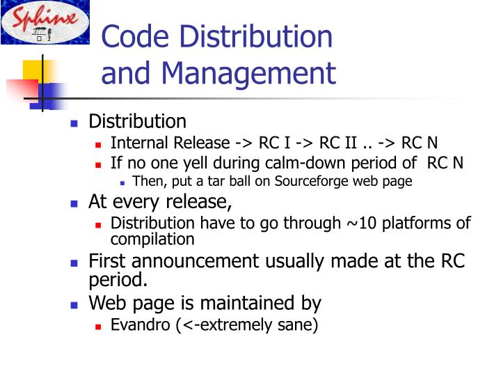 Code Distribution