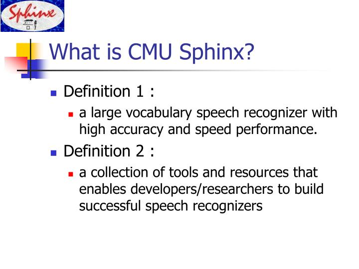 What is cmu sphinx