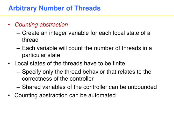 Arbitrary Number of Threads