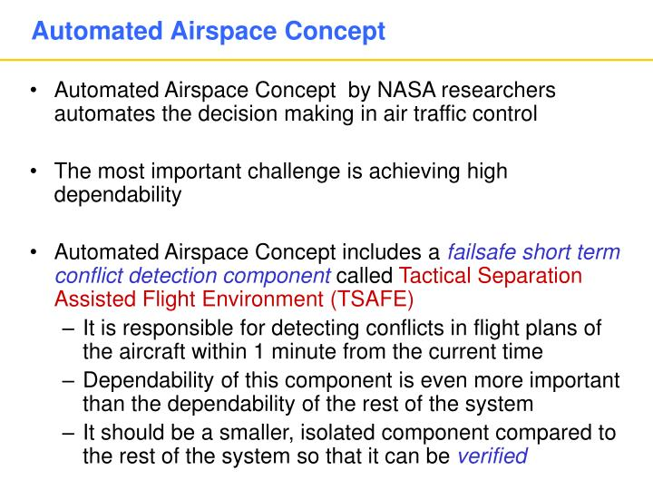 Automated Airspace Concept