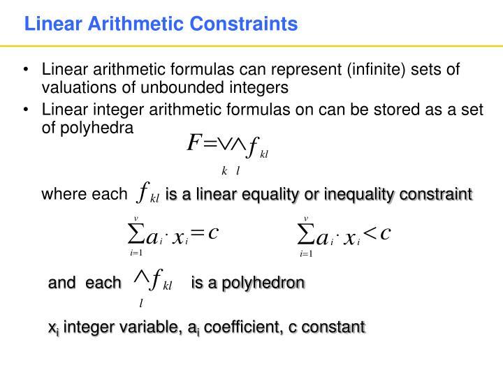 Linear Arithmetic Constraints