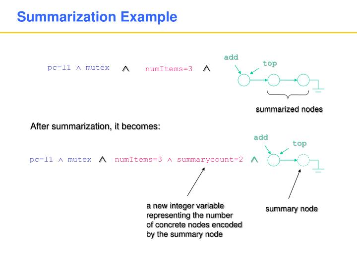 Summarization Example