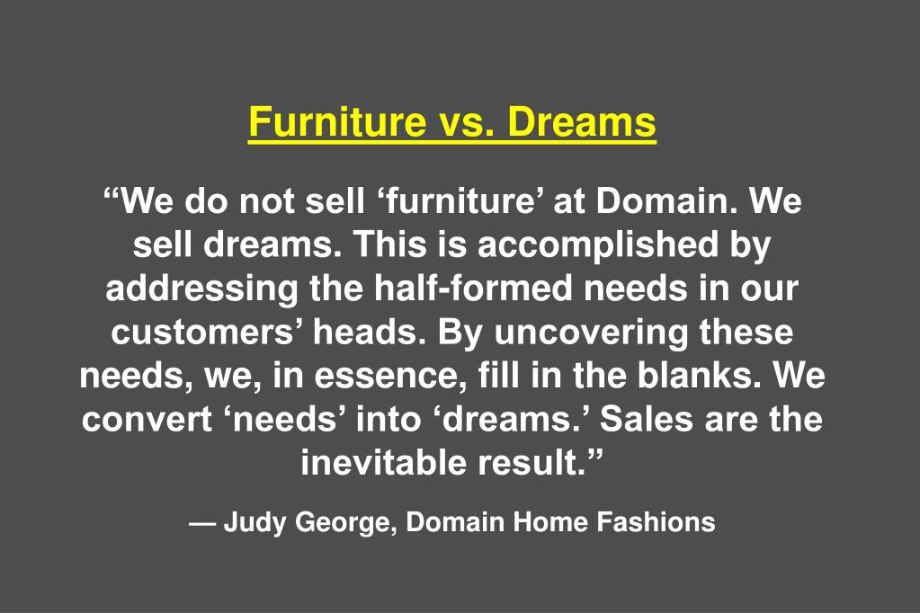 Furniture vs. Dreams