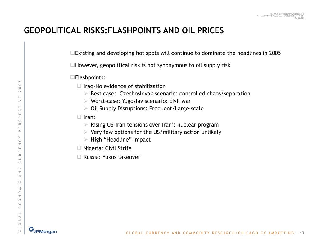 GEOPOLITICAL RISKS:FLASHPOINTS AND OIL PRICES