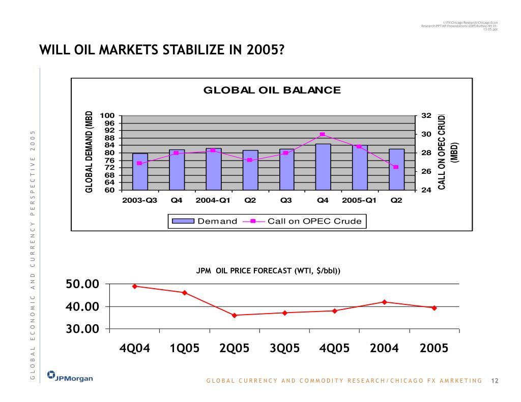 WILL OIL MARKETS STABILIZE IN 2005?