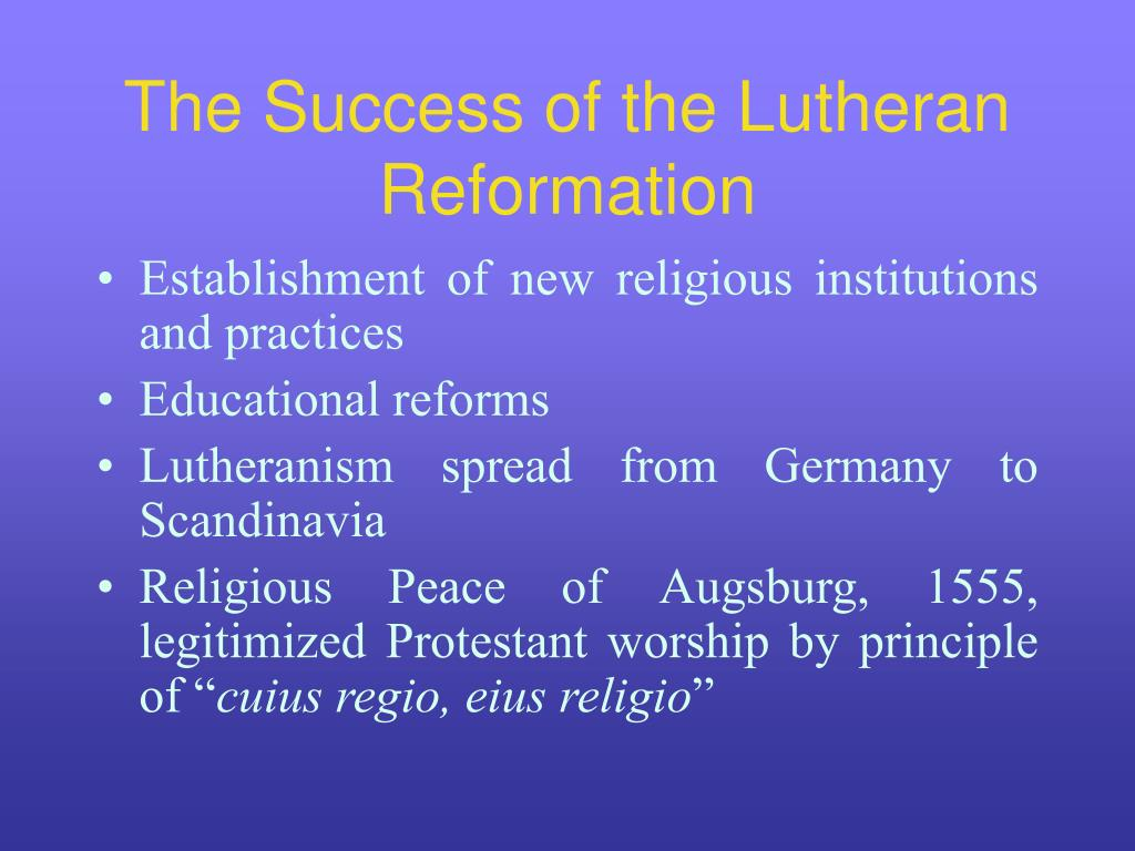 lutheranism and its impact on germanic What are some important effects from the reformation the religious and philosophical impact of reformation a book about martin luther and the reformation.