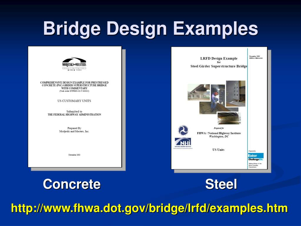 Bridge Design Examples