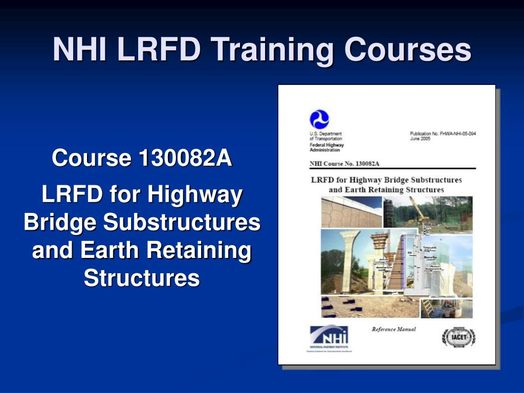 NHI LRFD Training Courses