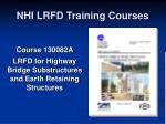 nhi lrfd training courses