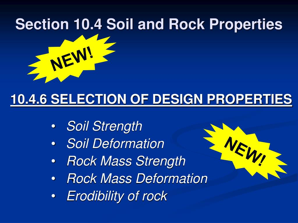 Section 10.4 Soil and Rock Properties