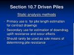 section 10 7 driven piles27