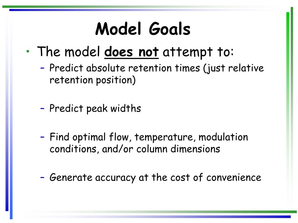 Model Goals