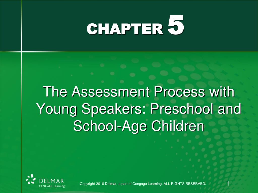 the assessment process with young speakers preschool and school age children