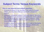 subject terms versus keywords36