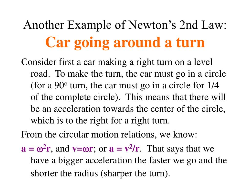 Another Example of Newton's 2nd Law: